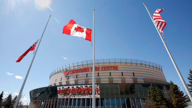 The Canadian Tire Centre in Ottawa on Tuesday, April 14, 2015. (Patrick Doyle/THE CANADIAN PRESS)