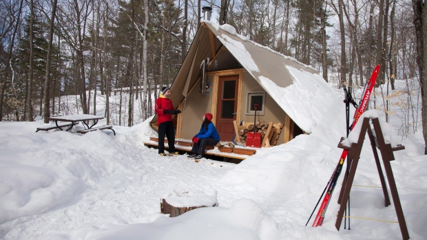Winter camping in Gatineau Park