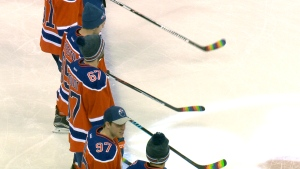 The Edmonton Oilers make history with the use of Pride Tape in support of LGBTQ players.