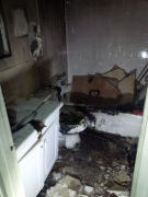 London police released this image of damage from a fire in an Adelaide Street North apartment in London, Ont. on Saturday, Jan. 23, 2016.