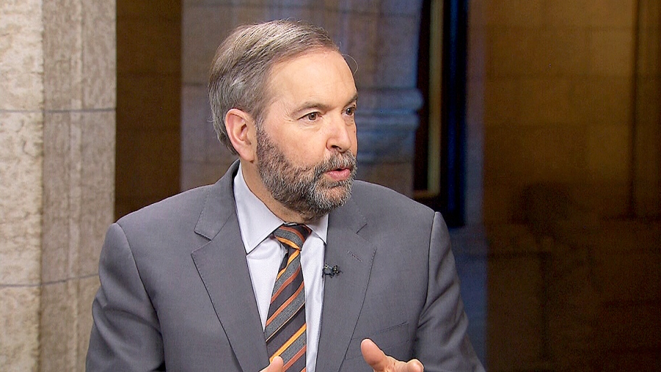 NDP Leader Tom Mulcair appears on CTV's Power Play on Jan 25., 2016.