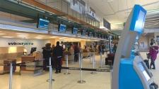 Westjet at Edmonton International Airport