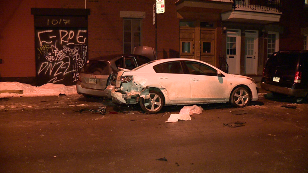 Alleged drunk driver smashes parked cars