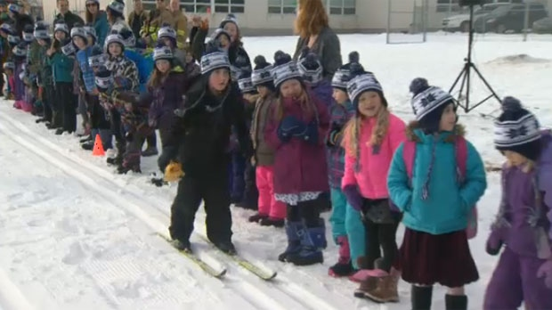 The Altagas Ski at School program encourages kids to have an active lifestyle.