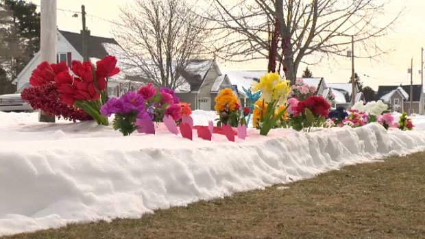A Nova Scotia woman who was the inspiration behind a flower garden that sprung up in the middle of the winter has died.