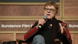 Robert Redford, founder and president of the Sundance Institute, addresses reporters during the 2016 Sundance Film Festival Opening Day Press Conference at the Egyptian Theatre in Park City, Utah on Thursday, Jan. 21, 2016. (Chris Pizzello / Invision)