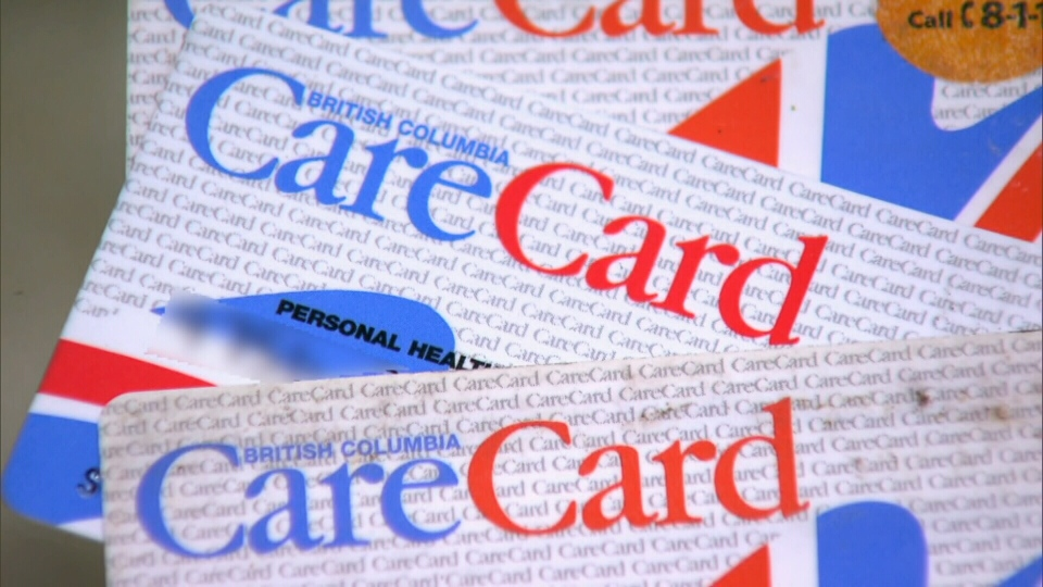 A B.C. Care Card is shown in this undated image. (CTV)