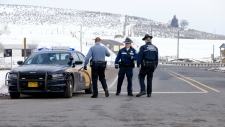 Oregon police roadblock