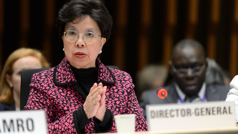 China's Margaret Chan, General Director of the World Health Organization, WHO, speaks about the Information Session on Zika virus for WHO Member States, during a WHO Executive Board session, at the World Health Organization (WHO) headquarters in Geneva, Switzerland, Thursday, Jan. 28, 2016. (Martial Trezzini/Keystone via AP)