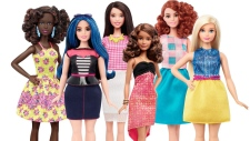 Mattel reveals Barbie's three new body types