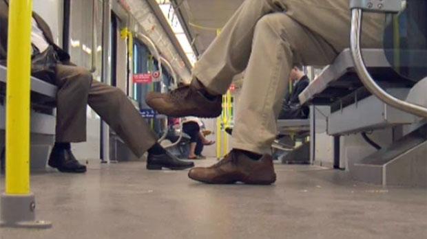 Calgary Transit -CTrain passengers