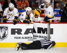 Linesman hit by Dennis Wideman