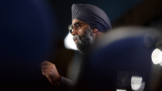 Defence Minister Harjit Sajjan speaks in Ottawa