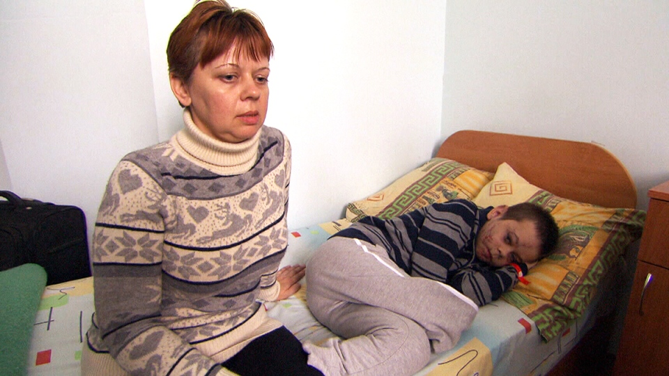 Alla Nyzhnykovskyi speaks about the explosion that wounded her 11-year-old son Mykola and killed her 4-year-old son Danyo.