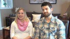 Pregnant women questioning travel plans