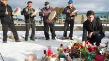 Prime Minister Justin Trudeau at La Loche memorial