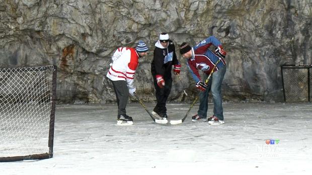 Underground hockey in an abandoned mine | CTV News Ottawa