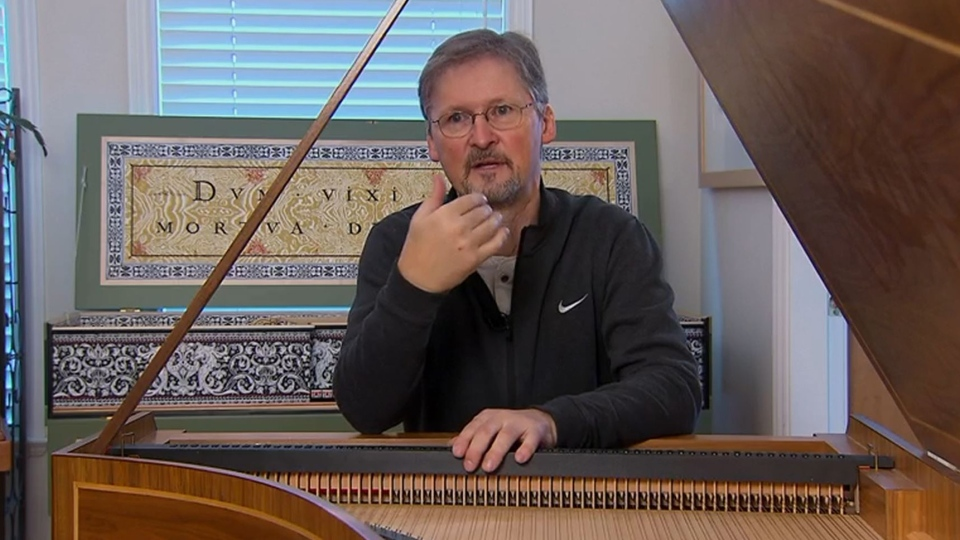 Craig Tomlinson discusses his handmade harpsichords.