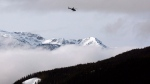 A Search and Rescue helicopter heads toward the area where a large avalanche struck near Revelstoke, B.C., in this Sunday, March 14, 2010 file photo.(Jeff McIntosh / THE CANADIAN PRESS)