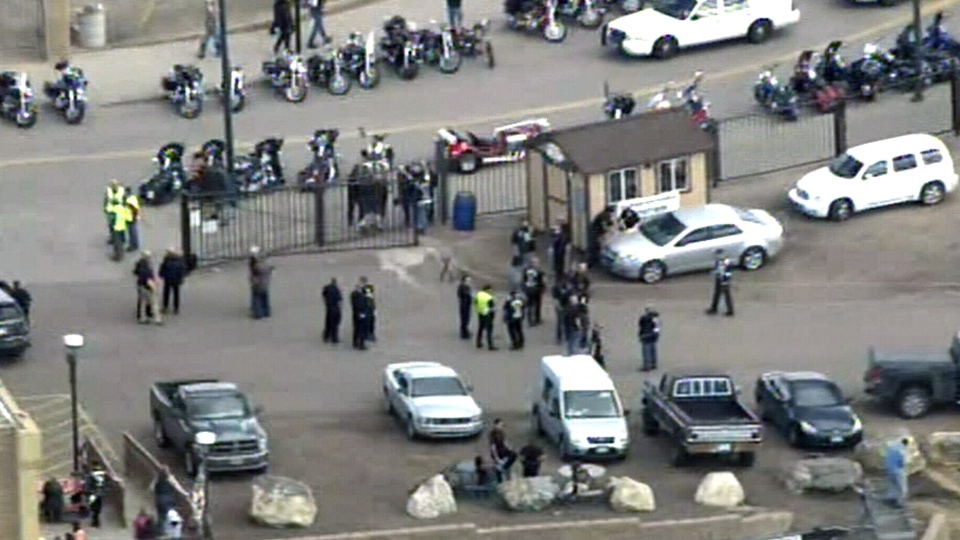 Several people have been taken to hospital following a shooting at the Colorado Motorcycle Expo in Denver on Saturday, Jan. 30, 2016.