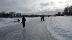 On Saturday, the Red River Mutual Trail announced it had reopened a portion of the skating path. About one kilometre is now open on the Red River from the Forks Historic Port to the Norwood Bridge. (File image)