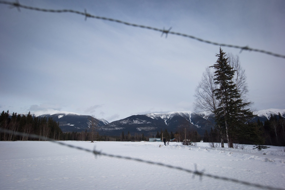 Mount Monroe is seen behind a property in the Robson Valley near McBride, B.C., on Saturday January 30, 2016. (Darryl Dyck / THE CANADIAN PRESS)