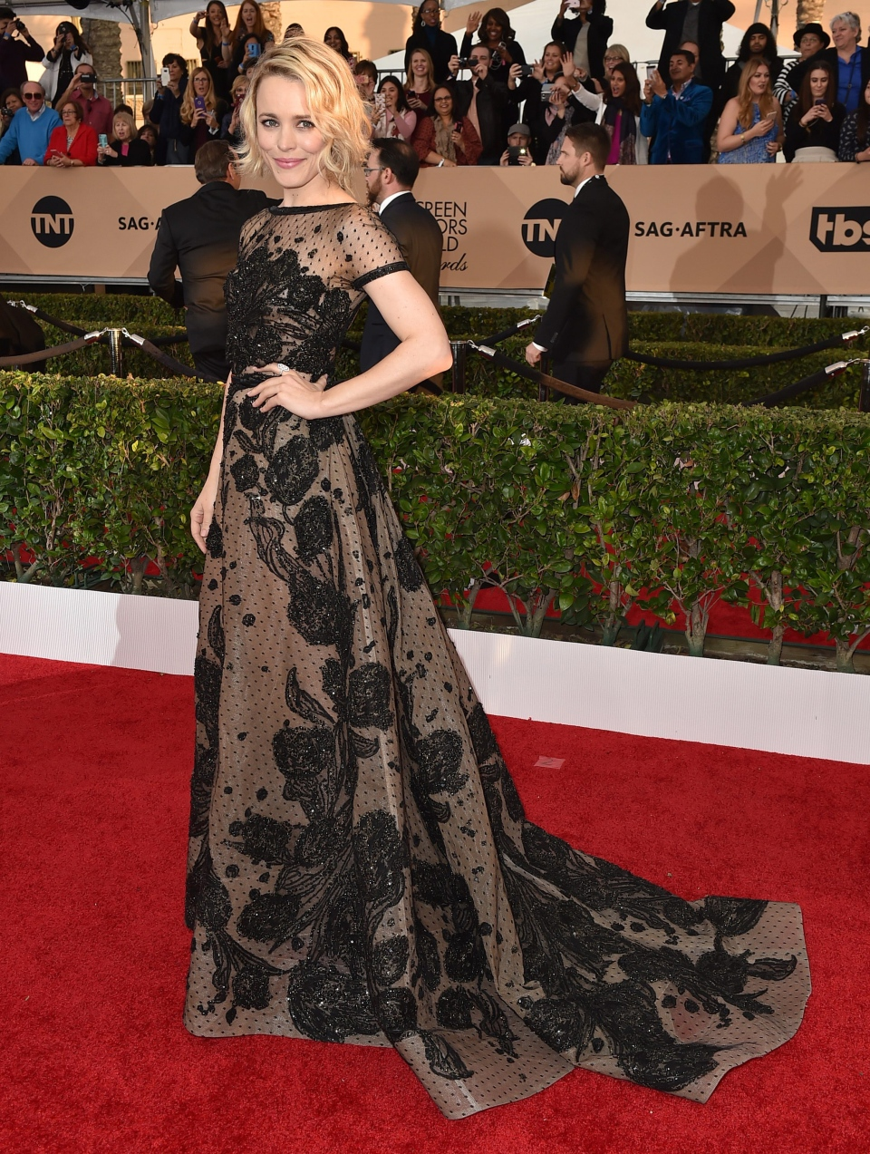 Rachel McAdams arrives at the 22nd annual Screen Actors Guild Awards at the Shrine Auditorium & Expo Hall on Saturday, Jan. 30, 2016, in Los Angeles. (Photo by Jordan Strauss / Invision / AP)