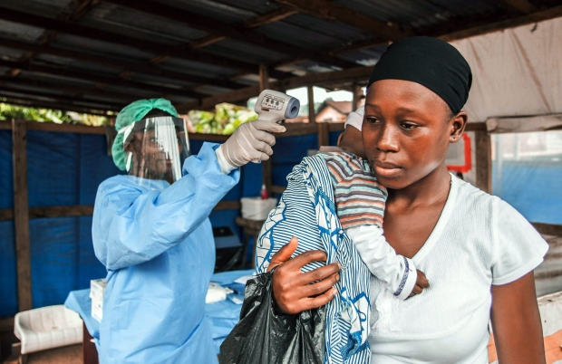 Woman tested for Ebola in Sierra Leone