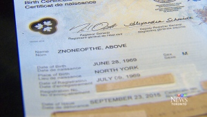 A birth certificate showing the man formerly known as Sheldon Bergson's legal name change.