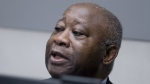 Former Ivory Coast president Laurent Gbagbo waits for the start of his trial at the International Criminal Court in The Hague, Netherlands, Thursday, Jan. 28, 2016. (AP / Peter Dejong)