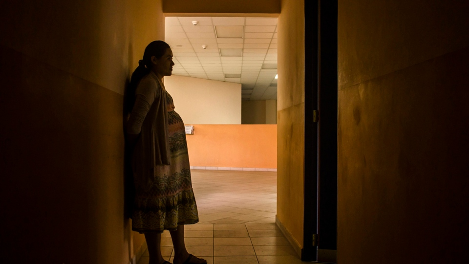 In this Jan. 29, 2016 photo, Carmen Cruz, 31, waits to have her prenatal exam at the National Hospital for Women in San Salvador, El Salvador. (AP / Salvador Melendez)