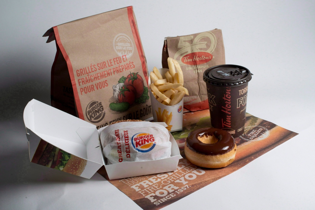 Burger King and Tim Hortons food