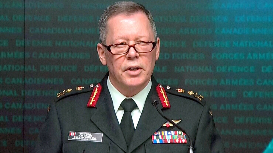 Chief of Defence Staff Gen. Jonathan Vance speaks to reporters in Ottawa on Monday, Feb. 1, 2016.