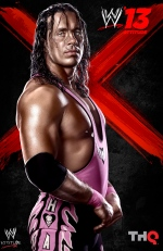 """The cover of the video game WWE 13, featureing Bret """"The Hitman"""" Hart, is shown. (THE CANADIAN PRESS/HO, THQ)"""