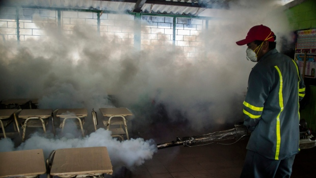 Fumigation to kill Zika-bearing mosquitoes