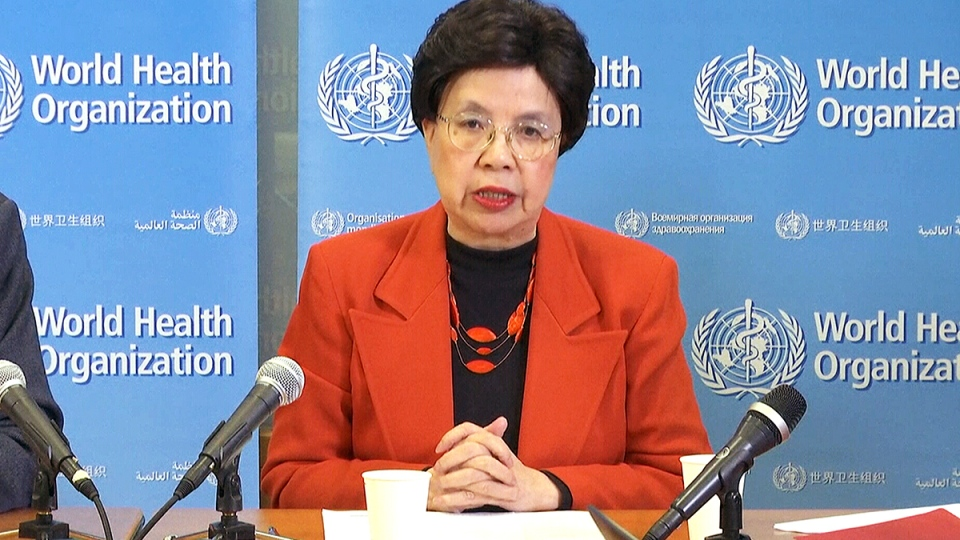 WHO Director-General Margaret Chan declares the Zika virus to be an international emergency, in Geneva, Switzerland, Monday, Feb. 1, 2016.