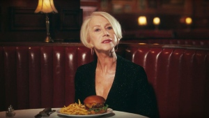 Helen Mirren in an image from the YouTube video Budweiser Super Bowl 50 Commercial 2016 – Simply Put. (YouTube)