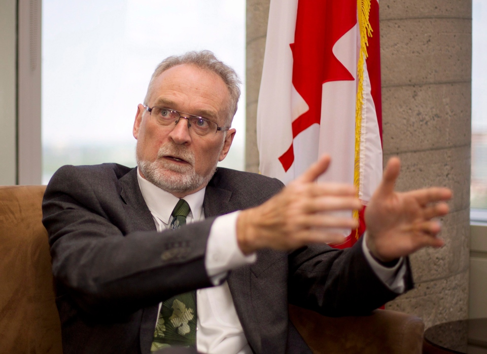 Auditor General Michael Ferguson is shown during an interview in his office in Ottawa, Wednesday,June 10, 2015. (Fred Chartrand/THE CANADIAN PRESS)