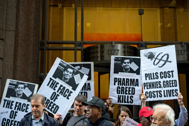 Protest against drug price hikes
