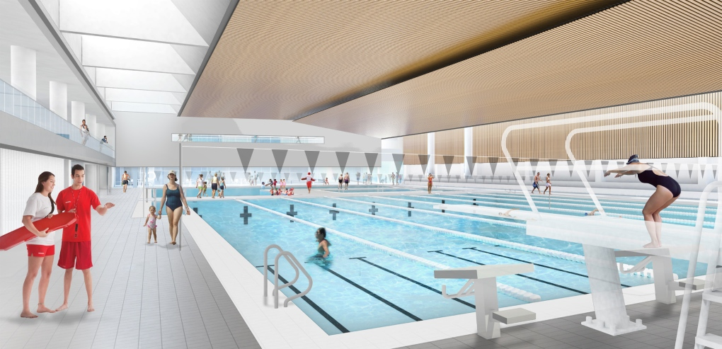 Designs released for orillia 39 s new rec centre ctv barrie for 50m pool design