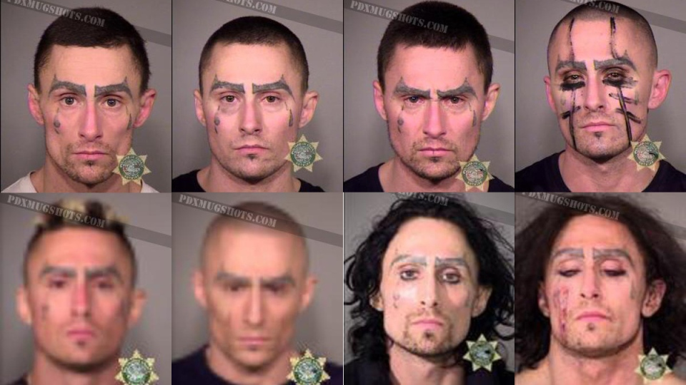 Three hard years: Mugshots reveal convict's dramatic change in