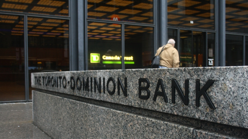 A TD Bank branch is shown in this undated file photo. (CP24/Chris Fox)