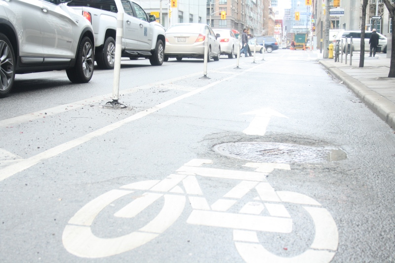A bike lane is shown in this file photo. (Chris Fox/CP24.com)