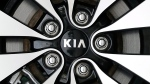 KIA logo on a wheel rim at a dealership in Chicago, on Oct. 5, 2012. (Nam Y. Huh / AP)