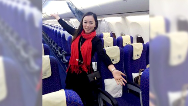 Zhang on an empty flight