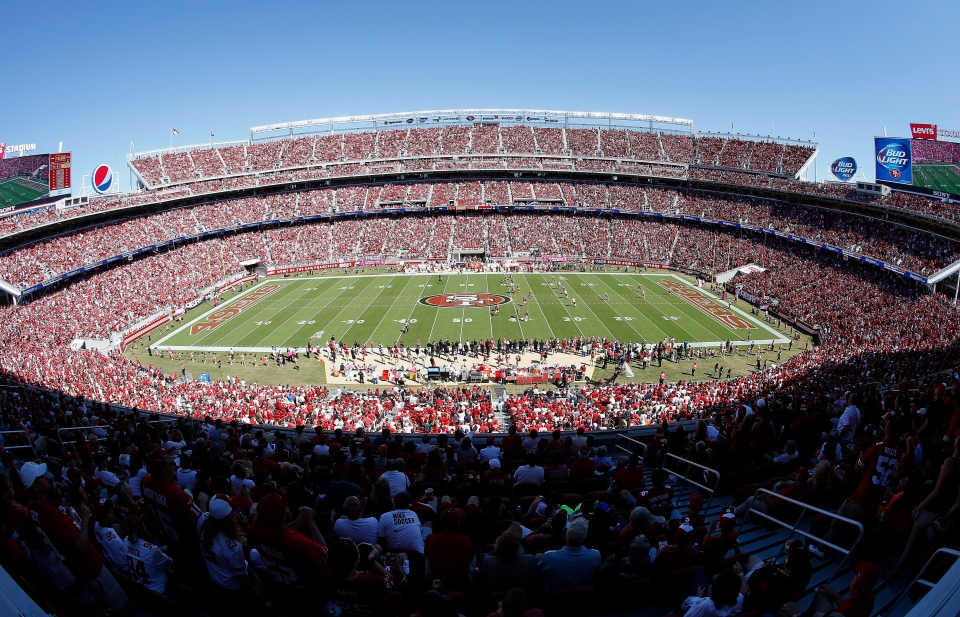 This Oct. 5, 2014, file photo shows a general view of Levi's Stadium, the upcoming site of Super Bowl 50, in Santa Clara, Calif. (AP / Tony Avelar)
