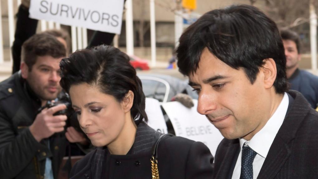 Jian Ghomeshi, Marie Henein arrive at court