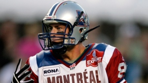 Montreal Alouettes Eric Deslauriers in Edmonton Alta., on Sept. 14, 2007. (Jason Scott / CP)