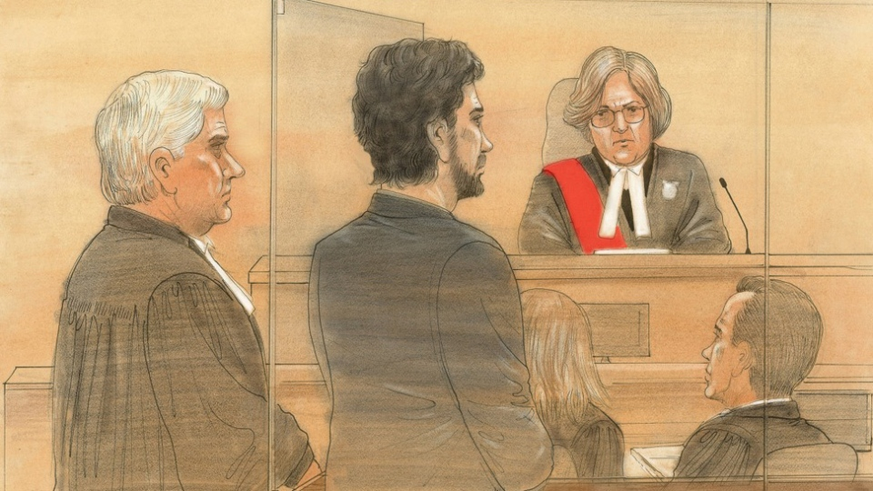 Marco Muzzo appears in a Newmarket, Ont. courtroom on Thursday, Feb. 4, 2016. (John Mantha / CTV Toronto)