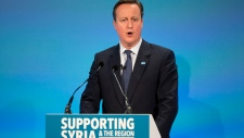 British Prime Minister David Cameron on refugees